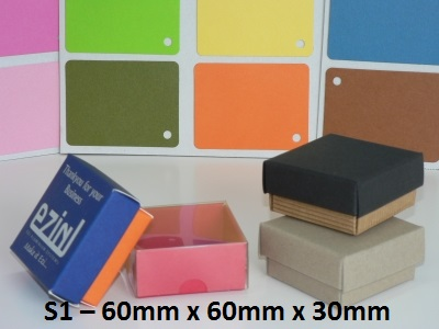 S1 - Square Box with Lid - 60mm x 60mm x 30mm
