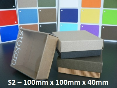S2 - Square Box with Lid - 100mm x 100mm x 40mm