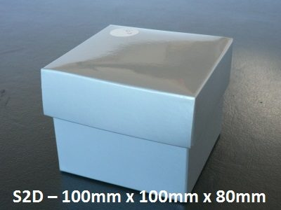 S2D - Square Box with Lid - 100mm x 100mm x 80mm