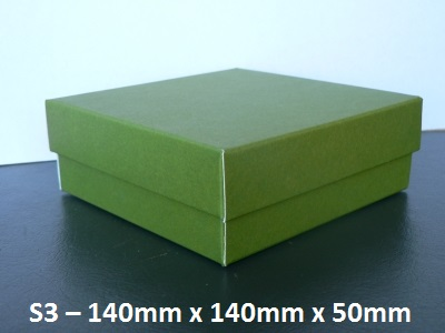 S3 - Square Box with Lid - 140mm x 140mm x 50mm