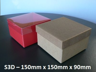 S3D - Square Box with Lid - 150mm x 150mm x 90mm