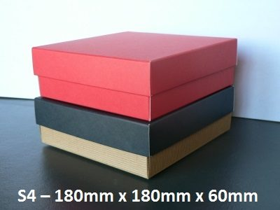 S4 - Square Box with Lid - 180mm x 180mm x 60mm