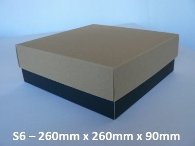 S6 - Square Box with Lid - 260mm x 260mm x 90mm