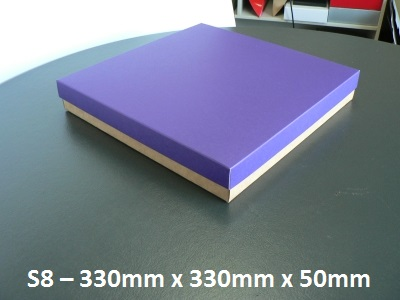 S8 - Square Box with Lid - 330mm x 330mm x 50mm