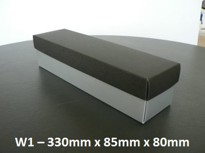 W1 - Wine Box with Lid - 330mm x 85mm x 80mm