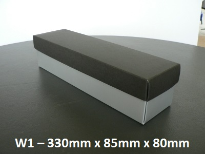W1 - Wine Box with Lid - 330mm x 85mm x 80mm