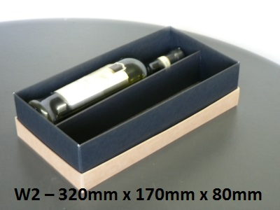 W2 - Wine Box with Lid - 320mm x 170mm x 80mm