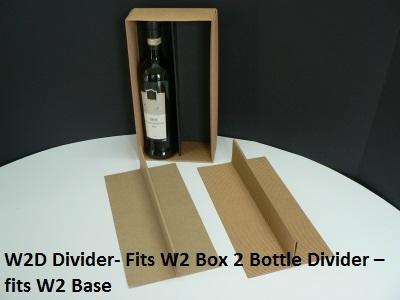 W2D - Wine Box Divider for W2 Double Wine Box