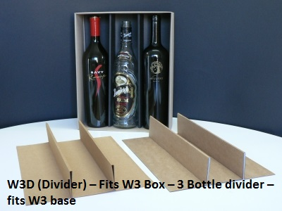 W3D - Wine Box Divider for W3 Triple Wine Box