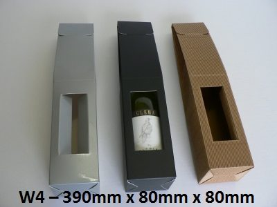 W4 - Single Wine Pack - 390mm x 80mm x 80mm