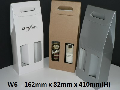 W6 - 2 Bottle Carry Pack - 162mm x 82mm x 410mm