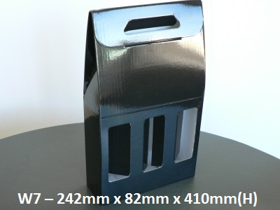W7 - 3 Bottle Carry Pack - 242mm x 82mm x 410mm