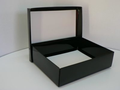 W3 – Black High Gloss – 340mm x 270mm x 85mm