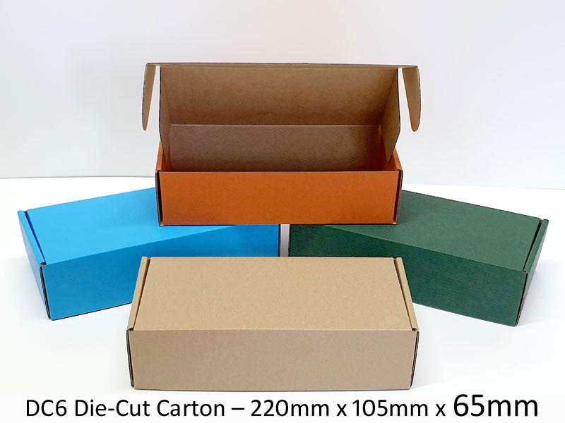 DC6 Die-Cut Carton - 220mm x 105mm x 65mm